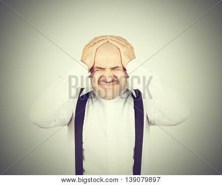 Man Holding His Head Pain.