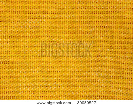 Natural Yellow Fabric Weaving As Background Texture