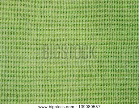 Natural Green Fabric Weaving As Background Texture