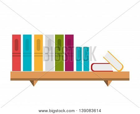 office bookcase isolated icon design, vector illustration  graphic