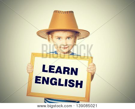 Text  Learn English.