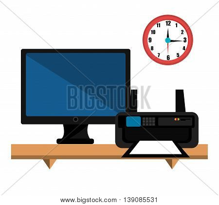 printer ink with computer  isolated icon design, vector illustration  graphic