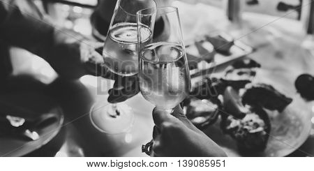 Celebration Wine Glass Happiness Relax Concept