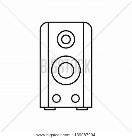 Black sound speaker icon in outline style isolated vector illustration