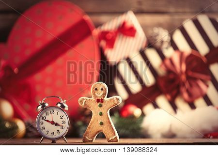 Gingerbread Man And Alarm Clock