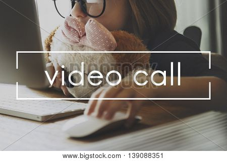 Video Call Media Multimedia Streaming Content Concept