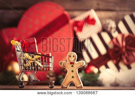 Gingerbread Man And Cart