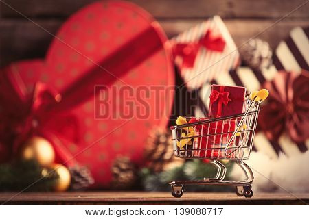 Cart With Gifts