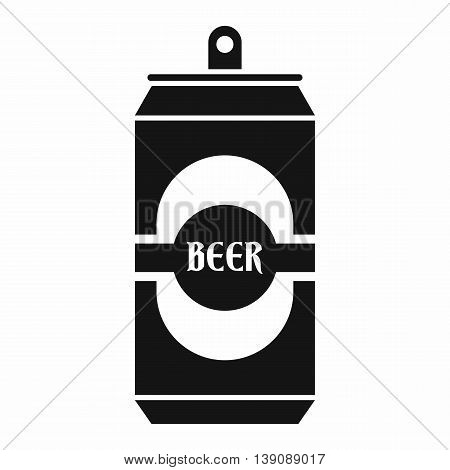 Aluminum can icon in simple style isolated vector illustration