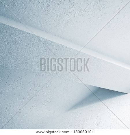 Abstract White Interior Fragment With Beam
