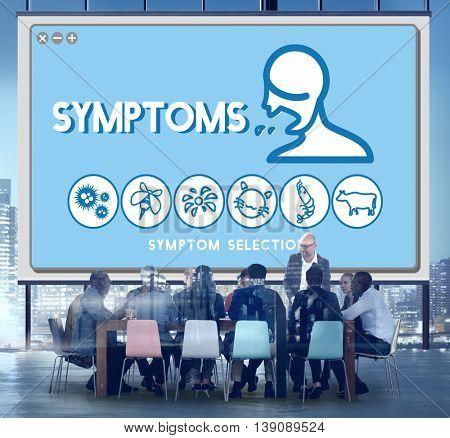 Symptoms Allergy Disorder Sickness Healthcare Concept
