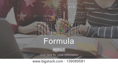 Students Studying Formula Math School Concept
