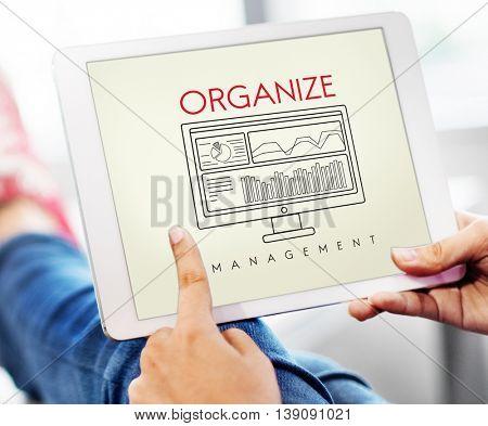 Business Organize Strategy Development Management Concept