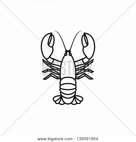 Crayfish icon in outline style isolated vector illustration