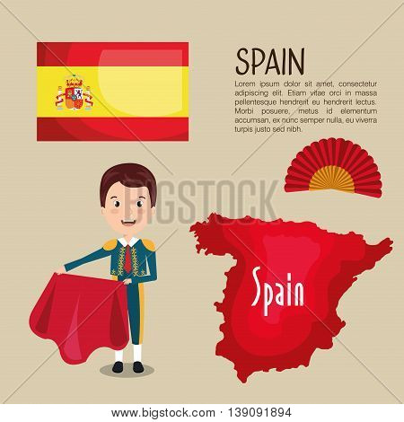 Spanish culture icons isolated icon design, vector illustration  graphic