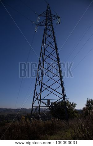Pylon Power photographed at sunset in Italy