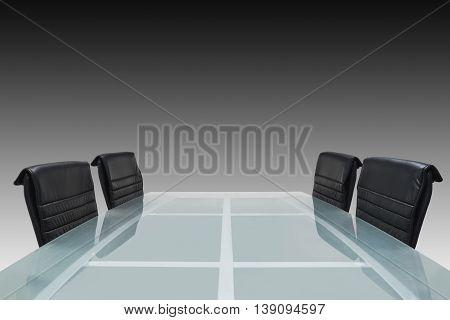 Meeting Room With Glass Top Table, Office Interior