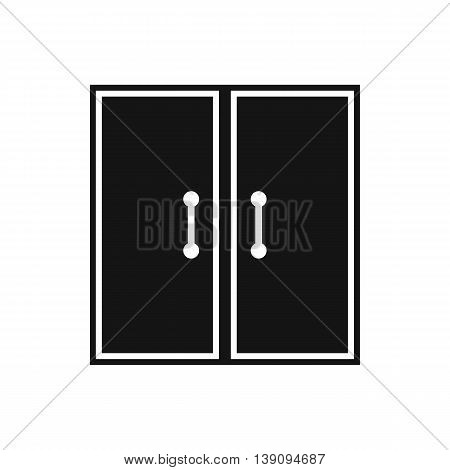 Two glass doors icon in simple style isolated vector illustration