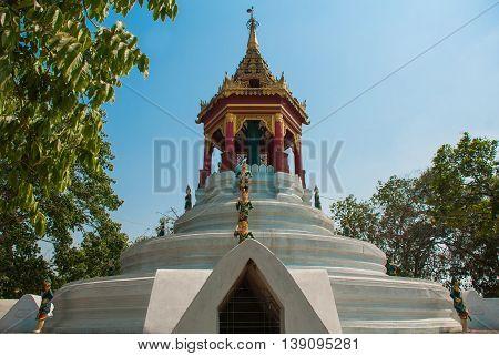 A Fragment Of Decorative Element. Bago. Myanma. Burma.