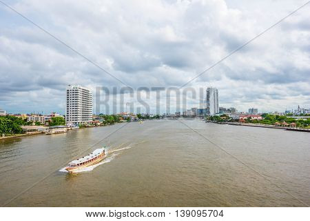 Express Boat in Chao Praya River - Bangkok Thailand