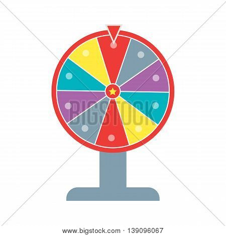 Wheel of fortune flat design eps 10