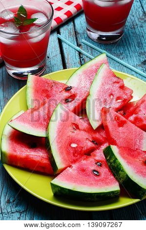 Cut Slices Of Watermelon