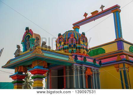 The Indian Temple. Bago In Myanmar. Burma.