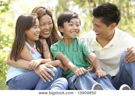 Family Enjoying Day In Park