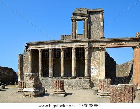 Ancient Roman city of Pompeii, Campania region of Italy, Europe.