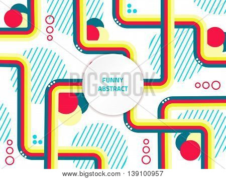 Vector colorful banner. Template funny disco card. Modern abstract background. Fashion print. Stylish design. Urban futuristic backdrop.