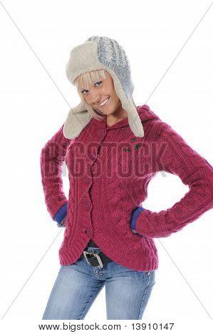 mujer en winter style