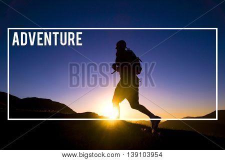 Adventure Traveler Destination Explore Journey Concept