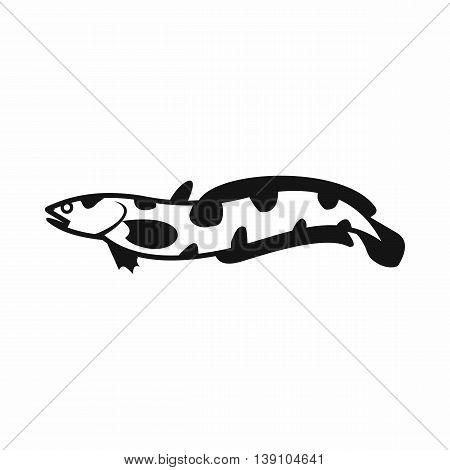 Anarhichas fish icon in simple style isolated vector illustration