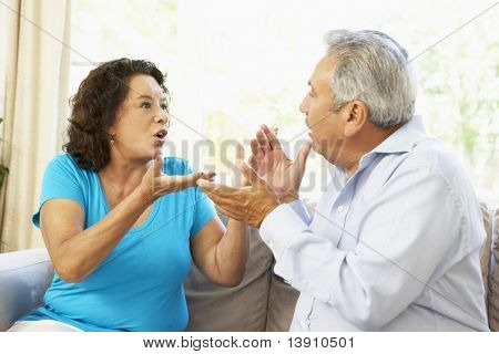 Senior Couple Having Argument At Home