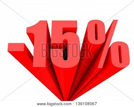 Discount 15 Percent Off Sale.