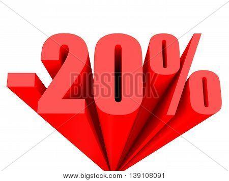 Discount 20 Percent Off Sale.
