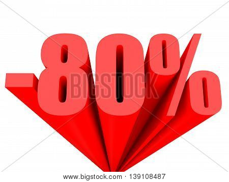 Discount 80 Percent Off Sale.