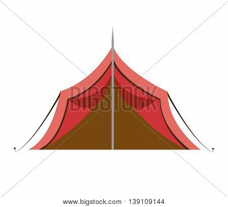 tent camping isolated icon design, vector illustration  graphic