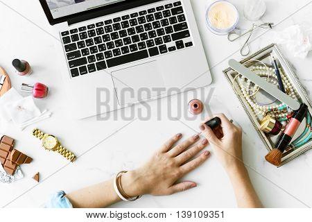 Manicure Beauty Accessory Brush Paint Brush Concept