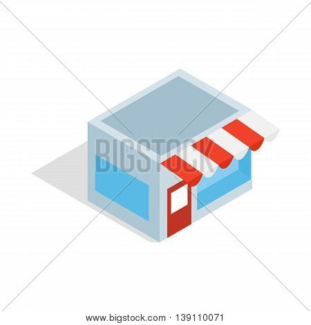 Shop icon in isometric 3d style isolated on white background. Goods symbol