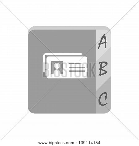 Telephone book icon on the white background. Vector illustration