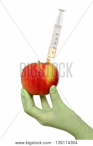 Agricultural Concept, Apple And Syringe