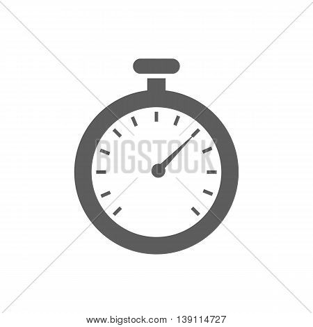 Stopwatch vector icon on the white background. Vector illustration