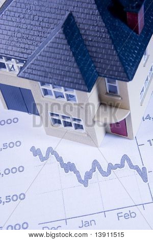 Concept Showing Decline In Housing Market