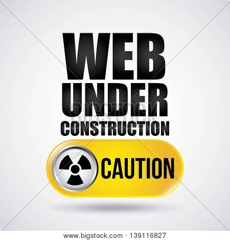 Under construction and Work in Progress concept represented by biohazard icon. Colorfull and flat illustration.