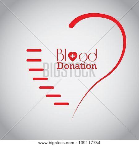 Blood Donation, Vector Illustration