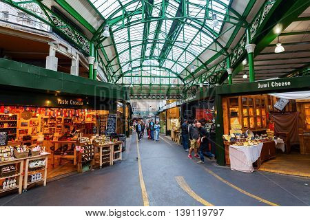 Borough Market In Southwark, Central London, Uk