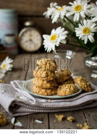 Delicious healthy oat and banana cookies perfect for breakfast