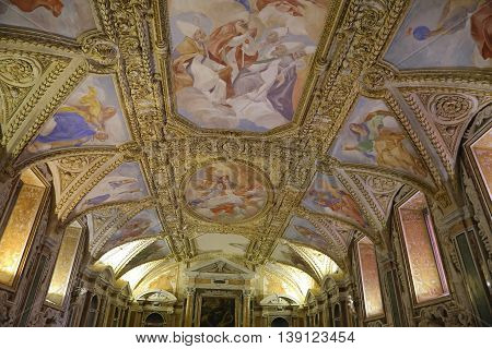GAETA ITALY - JUNE 25 2016:  Cathedral Basilic of Saint Maru's Assumption into heaven - Gaeta Italy