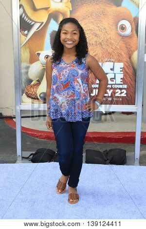 LOS ANGELES - JUL 17:  Leya DeLeon Hayes at the 'Ice Age: Collision Course' at the 20th Century Fox Lot on July 17, 2016 in Los Angeles, CA